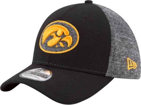 New Era Men's Iowa Hawkeyes Grey Fierce Fill 39Thirty Stretch Fit Hat product image