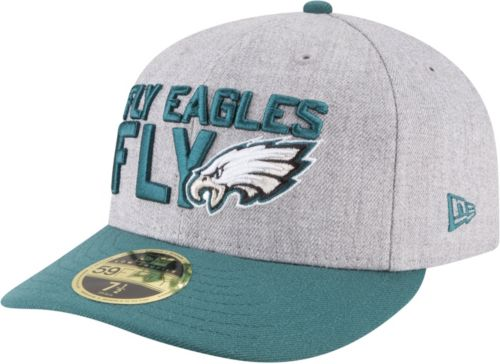 d77b0bc8342 New Era Men s Philadelphia Eagles 2018 NFL Draft 59Fifty Fitted Grey Hat.  noImageFound. Previous
