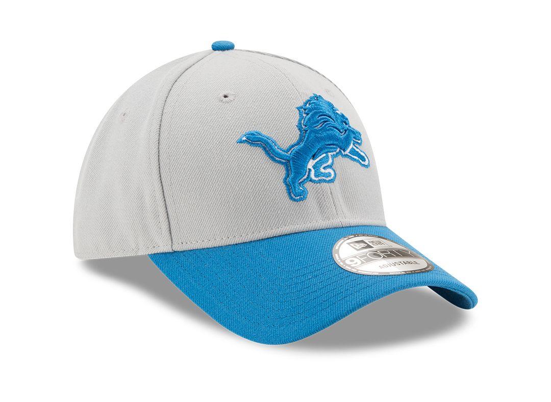 free shipping 9b077 db22c New Era Men s Detroit Lions League 9Forty Adjustable Grey Hat.  noImageFound. Previous. 1. 2