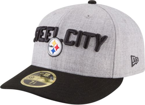 40484fe17 New Era Men s Pittsburgh Steelers 2018 NFL Draft 59Fifty Fitted Grey Hat.  noImageFound. Previous