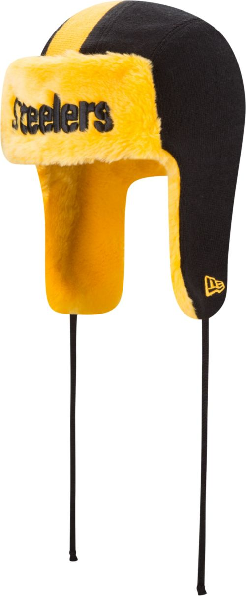 6e4a88a1f8878 New Era Men s Pittsburgh Steelers Helmet Head Trapper Knit. noImageFound.  Previous