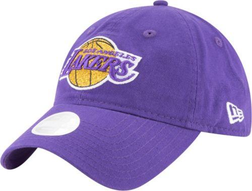 5acbd9a003dde3 New Era Women's Los Angeles Lakers 9Twenty Glisten Adjustable Hat.  noImageFound. Previous