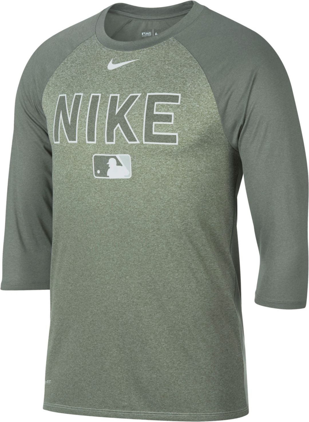 acec351e43c Nike Men's Legend Raglan ¾-Sleeve Baseball Shirt | DICK'S Sporting Goods