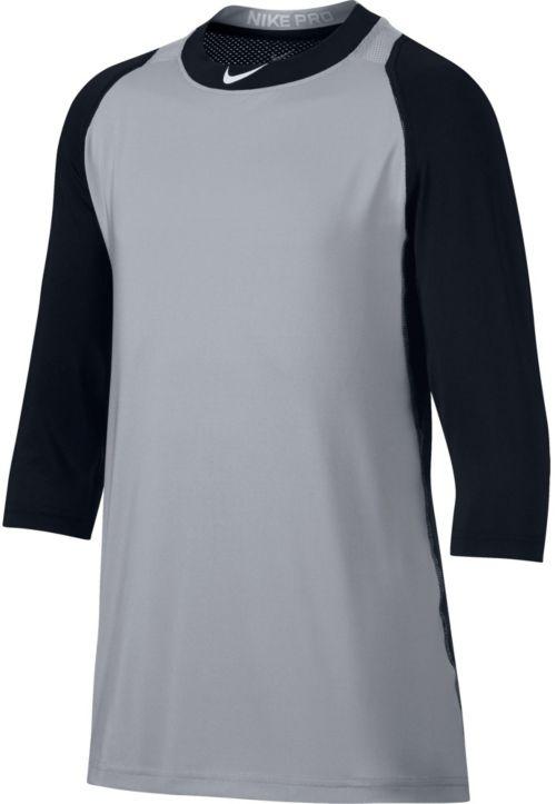 f065f14f Nike Boys' Pro Cool Reglan ¾-Sleeve Baseball Shirt. noImageFound. Previous