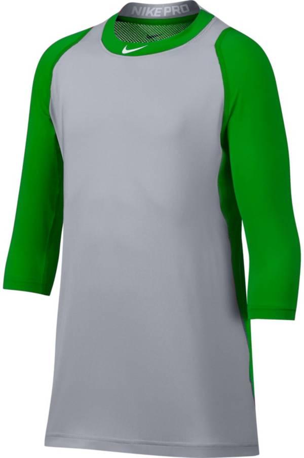 Nike Boys' Pro Cool Reglan ¾-Sleeve Baseball Shirt product image