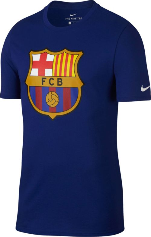 new style a480b 6a809 Nike Men s FC Barcelona Crest Blue T-Shirt   DICK S Sporting Goods