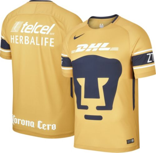 883aa3cede9 Nike Men s Pumas UNAM Spring 18 Breathe Replica Home Stadium Jersey.  noImageFound. Previous. 1. 2. 3
