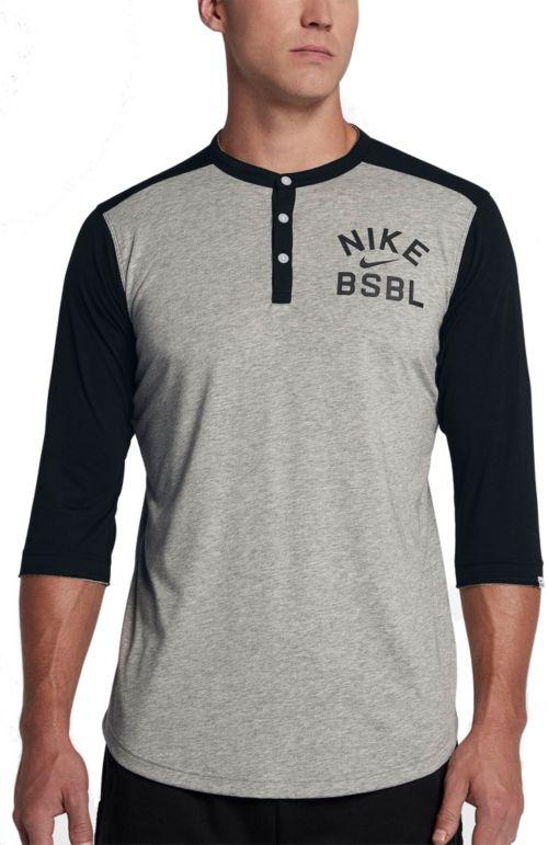 2728f64f9318 Nike Men's Flux ¾ Sleeve Henley Baseball Top   DICK'S Sporting Goods