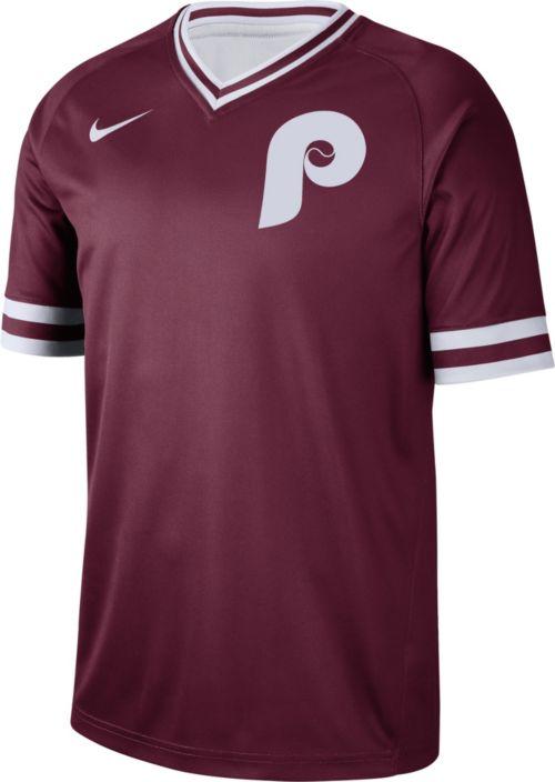 d0adfeb1586 Nike Men's Philadelphia Phillies Cooperstown V-Neck Pullover Jersey ...