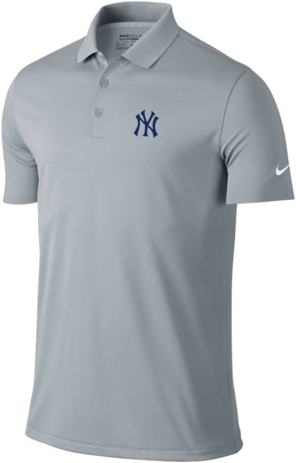 Nike Men's New York Yankees Dri-FIT Grey Victory Solid Polo product image
