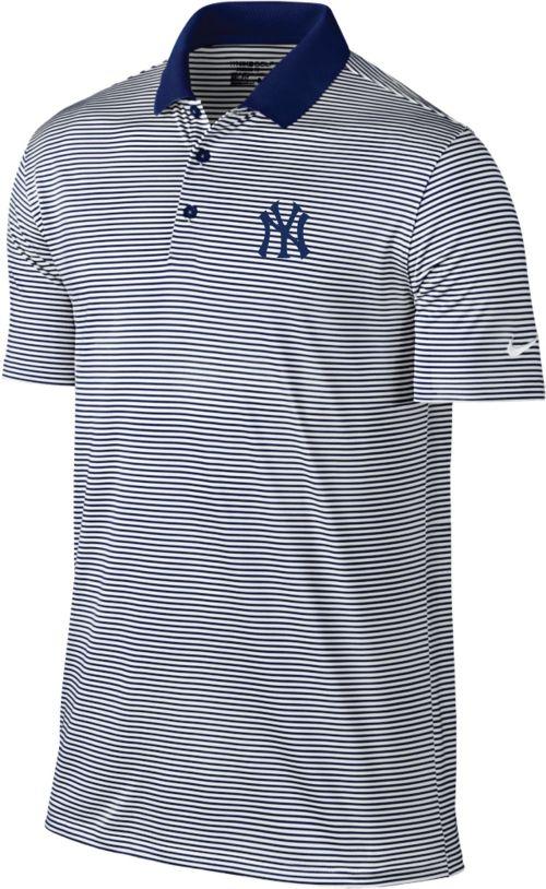 Nike Men s New York Yankees Dri-FIT Navy Victory Mini Stripe Polo ... e1184e00e25