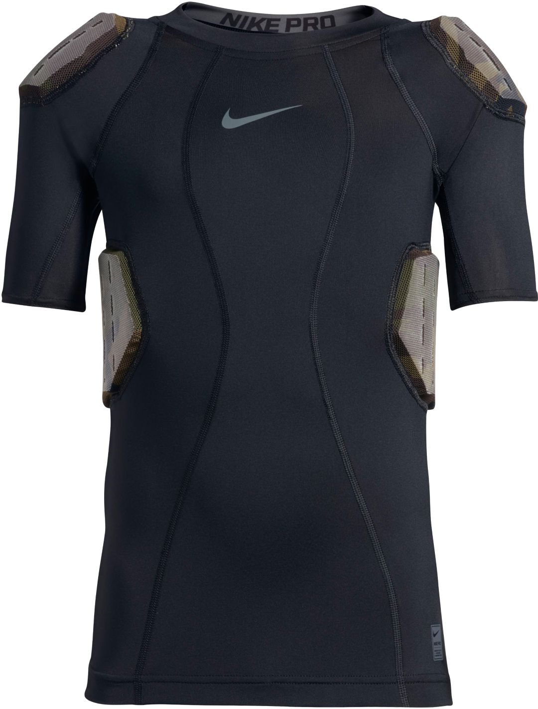 ff25fe4bba4 Nike Men's Pro Combat Hyperstrong 4-Pad Camo Football Shirt