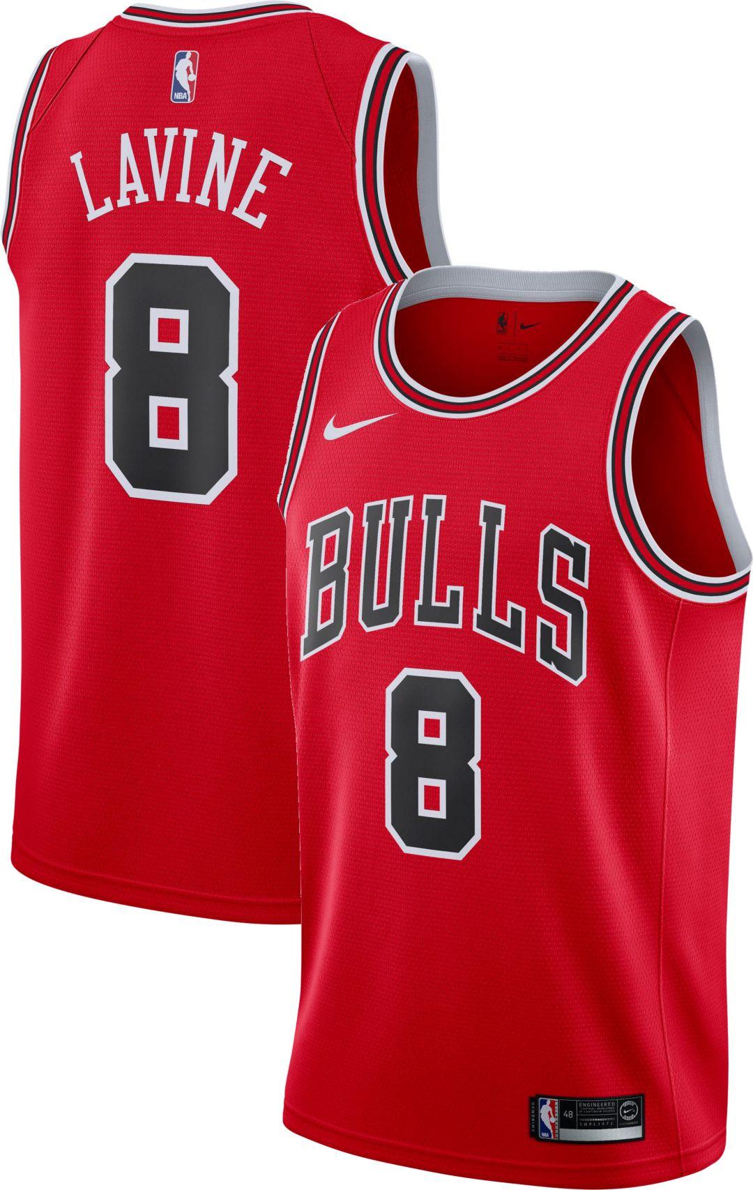 f6278037 Nike Men's Chicago Bulls Zack Lavine #8 Red Dri-FIT Swingman Jersey ...
