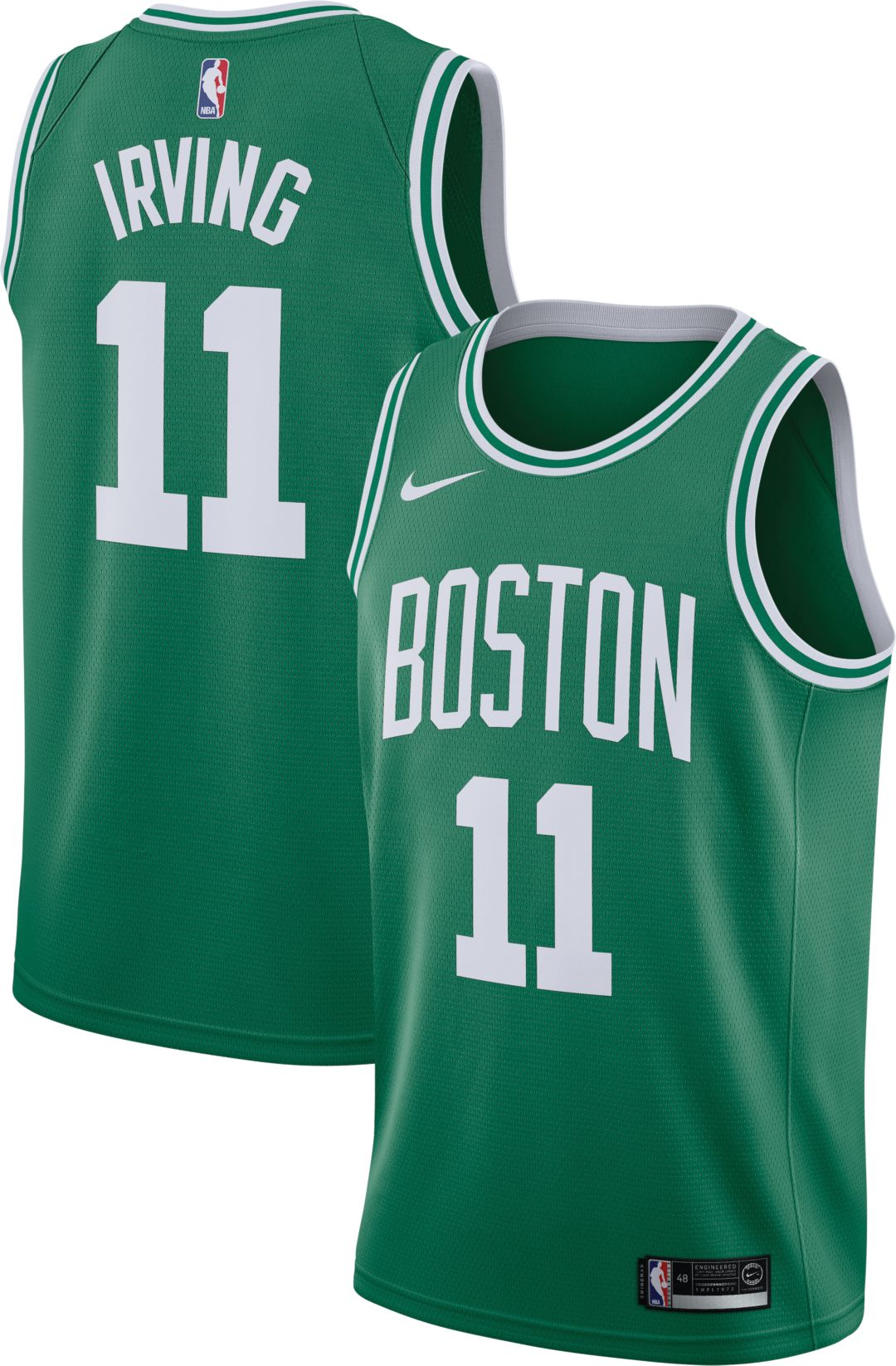 a0c18628780b Nike Men s Boston Celtics Kyrie Irving  11 Kelly Green Dri-FIT Swingman  Jersey 1
