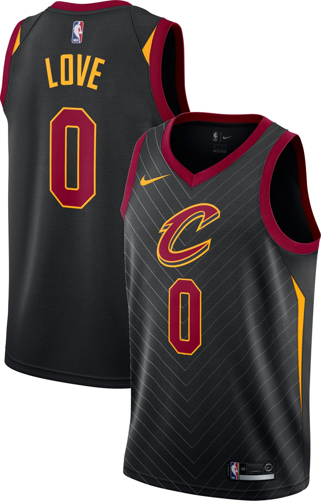 11eaa7a26 Nike Men's Cleveland Cavaliers Kevin Love #0 Black Dri-FIT Swingman ...