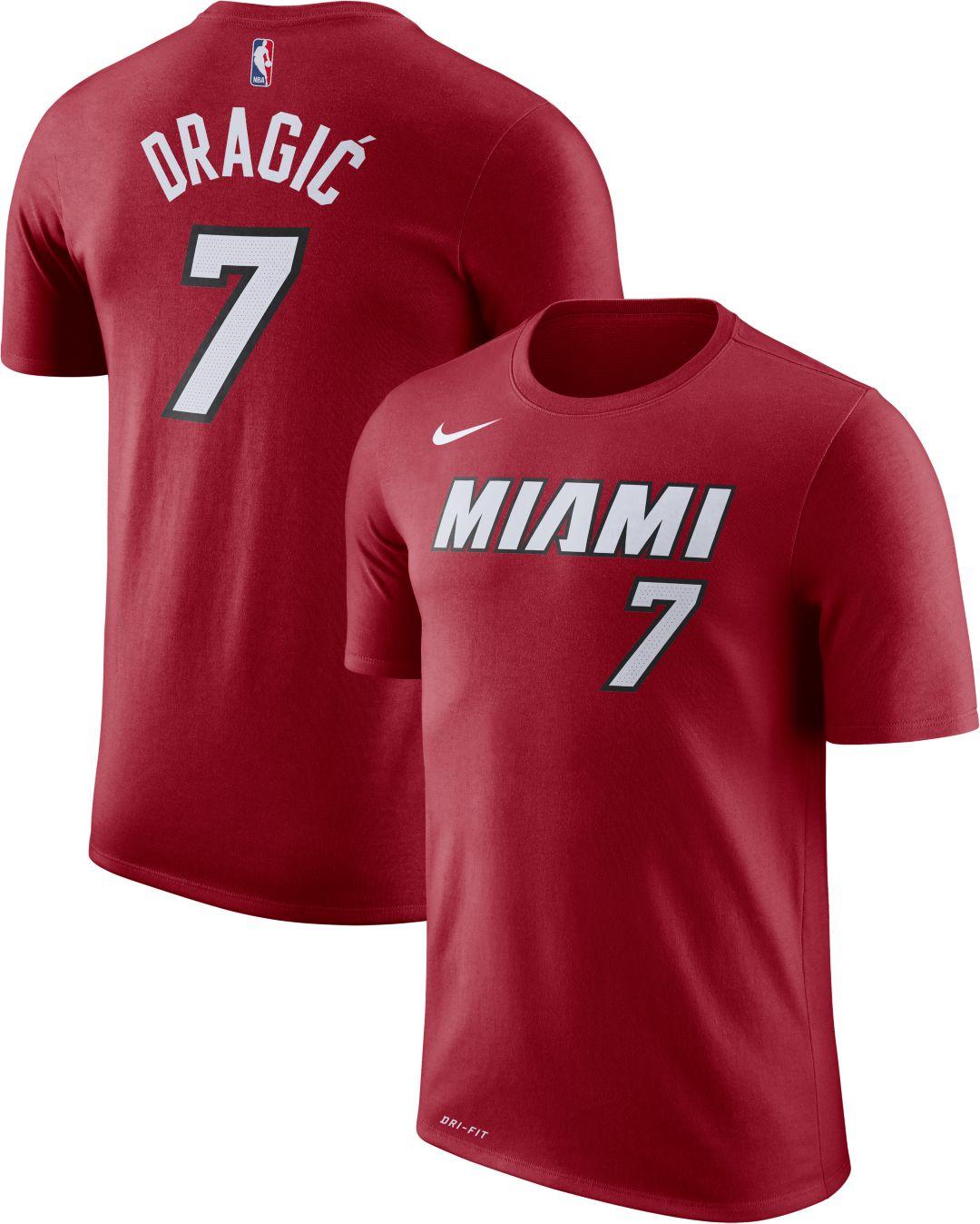 new arrival 3b7dc e6336 Nike Men's Miami Heat Goran Dragic #7 Dri-FIT Red T-Shirt