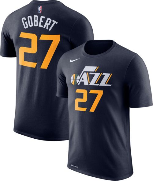 Nike Men s Utah Jazz Rudy Gobert  27 Dri-FIT Navy T-Shirt. noImageFound.  Previous. 1. 2. 3 212f95959