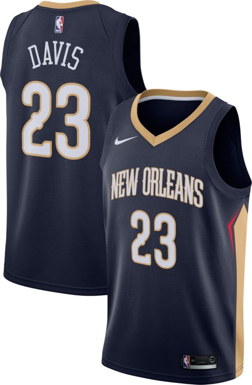 61613170e80 Nike Men's New Orleans Pelicans Anthony Davis #23 Navy Dri-FIT Swingman  Jersey. noImageFound. Previous