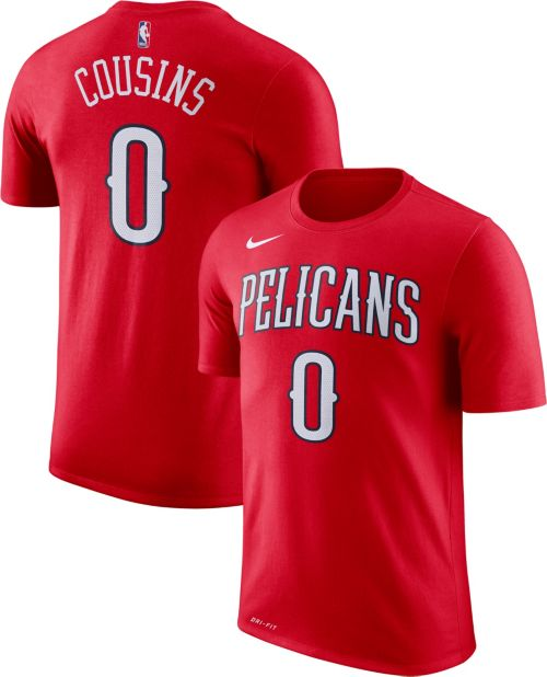 Nike Men s New Orleans Pelicans DeMarcus Cousins  0 Dri-FIT Red T-Shirt.  noImageFound. Previous be55501ab