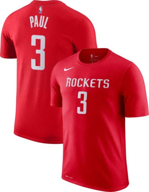 Nike Men s Houston Rockets Chris Paul  3 Dri-FIT Red T-Shirt. noImageFound.  Previous 99802adab
