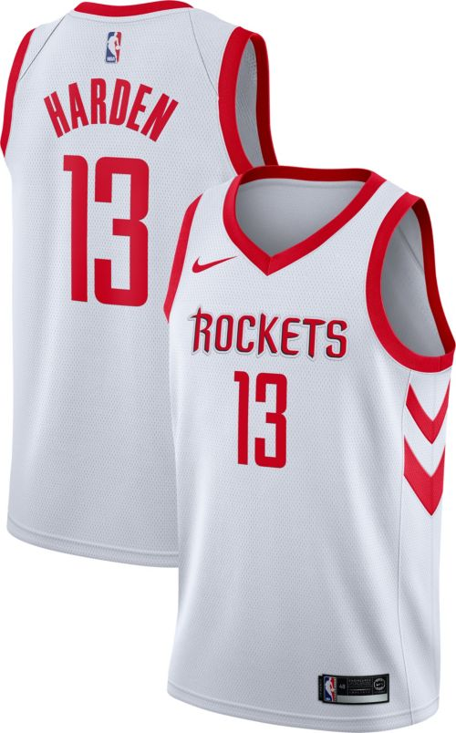 a54fd4fab1b Nike Men s Houston Rockets James Harden  13 White Dri-FIT Swingman Jersey.  noImageFound. Previous