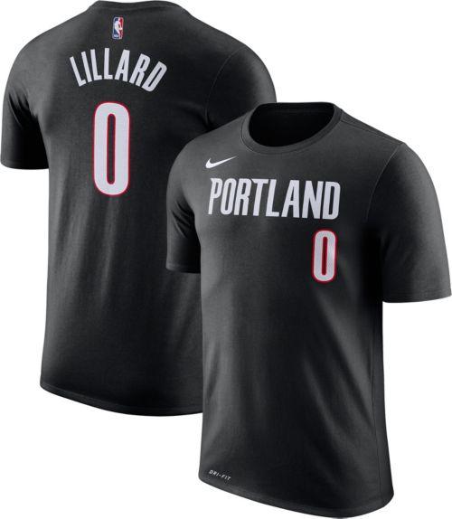 e4cd25aca Nike Men s Portland Trail Blazers Damian Lillard  0 Dri-FIT Black T-Shirt.  noImageFound. Previous