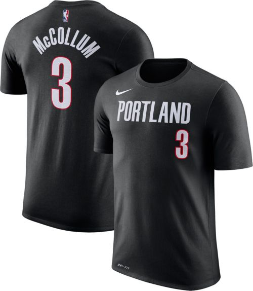 Nike Men s Portland Trail Blazers C.J. McCollum  3 Dri-FIT Black T-Shirt.  noImageFound. Previous 42e44657e