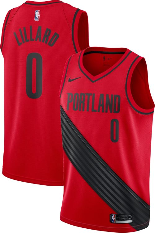 ... Blazers Damian Lillard  0 Red Statement Dri-FIT Swingman Jersey.  noImageFound. Previous 10d6e842d