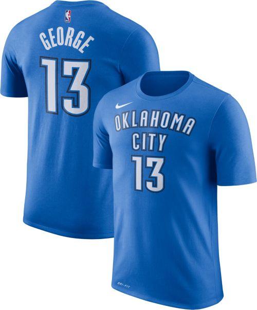 ab5c472ed9e Nike Men s Oklahoma City Thunder Paul George  13 Dri-FIT Blue T-Shirt.  noImageFound. Previous