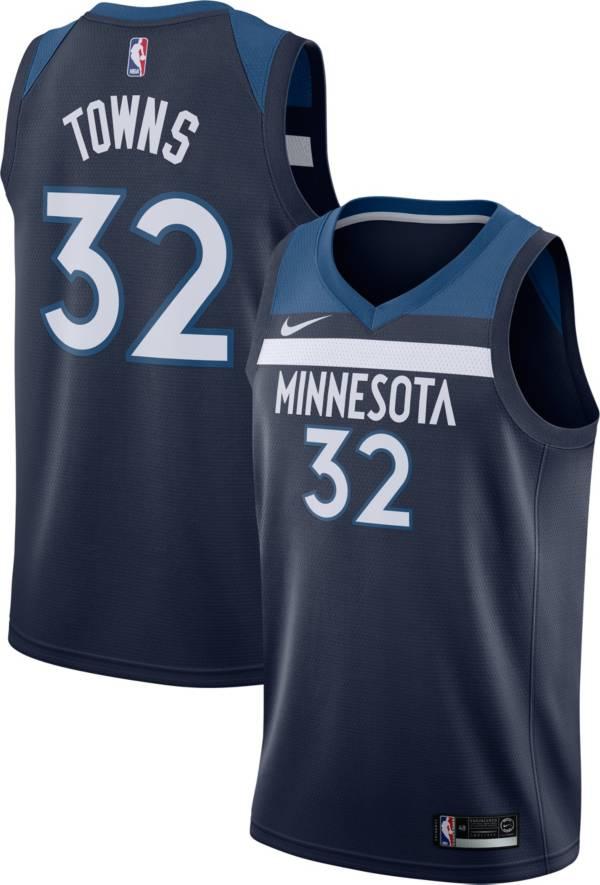 Nike Men's Minnesota Timberwolves Karl-Anthony Towns #32 Navy Dri-FIT Swingman Jersey product image