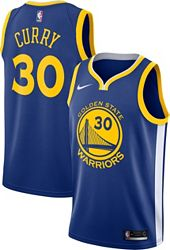 new style 717c9 2b0c0 Nike Men's Golden State Warriors Stephen Curry #30 Royal Dri-FIT Swingman  Jersey