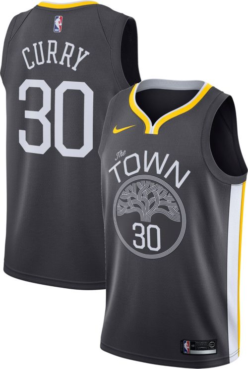 003c08a356dd Nike Men s Golden State Warriors Stephen Curry  30 Grey Dri-FIT Swingman  Jersey. noImageFound. Previous