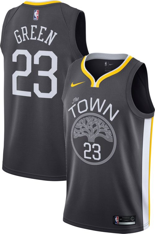 2db018229e3 Nike Men s Golden State Warriors Draymond Green  23 Grey Dri-FIT ...