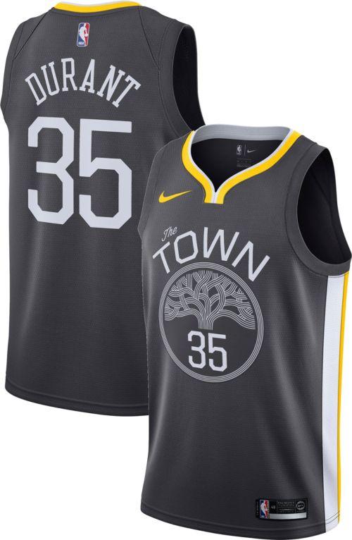 60584e23c Nike Men s Golden State Warriors Kevin Durant  35 Grey Dri-FIT Swingman  Jersey. noImageFound. Previous