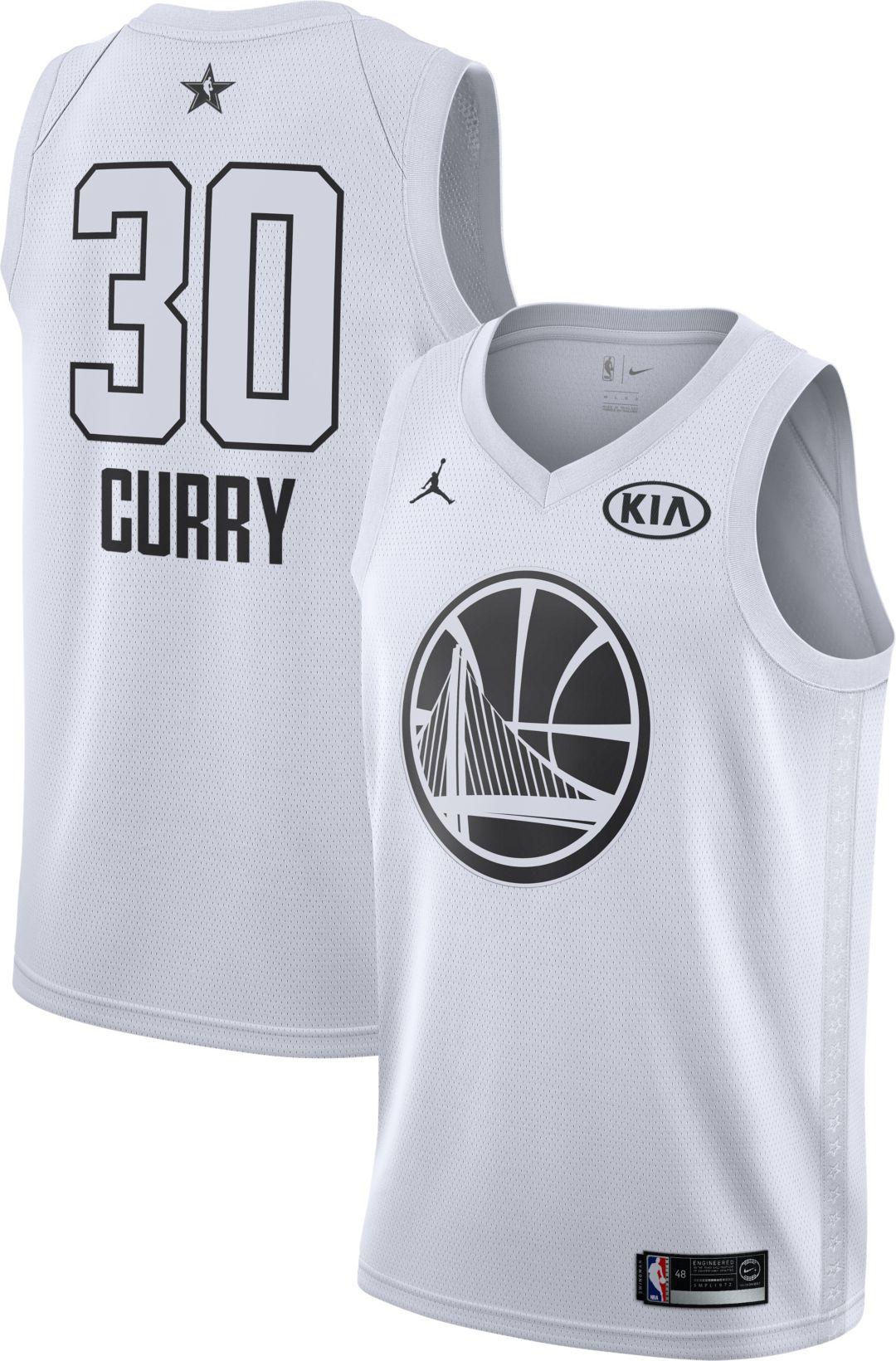 sale retailer 57bc9 ec731 Jordan Men s 2018 NBA All-Star Game Stephen Curry White Dri-FIT ...