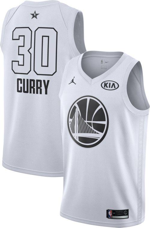 866449a62 Jordan Men s 2018 NBA All-Star Game Stephen Curry White Dri-FIT Swingman  Jersey. noImageFound. Previous