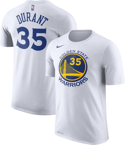 01c3b0d6ad88 Nike Men s Golden State Warriors Kevin Durant  35 Dri-FIT White T-Shirt.  noImageFound. Previous