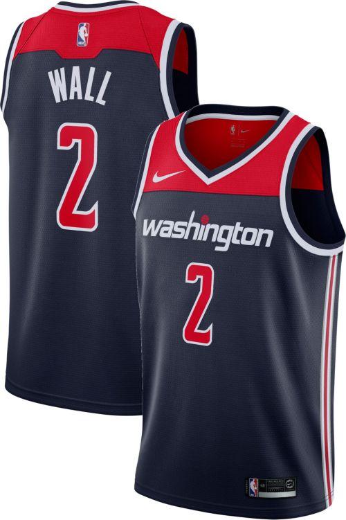 4ba112468d7 Nike Men's Washington Wizards John Wall  2 Navy Dri-FIT Swingman ...
