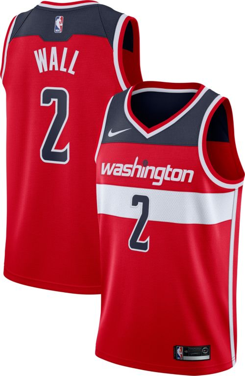 Nike Men s Washington Wizards John Wall  2 Red Dri-FIT Swingman ... 0190eadd7