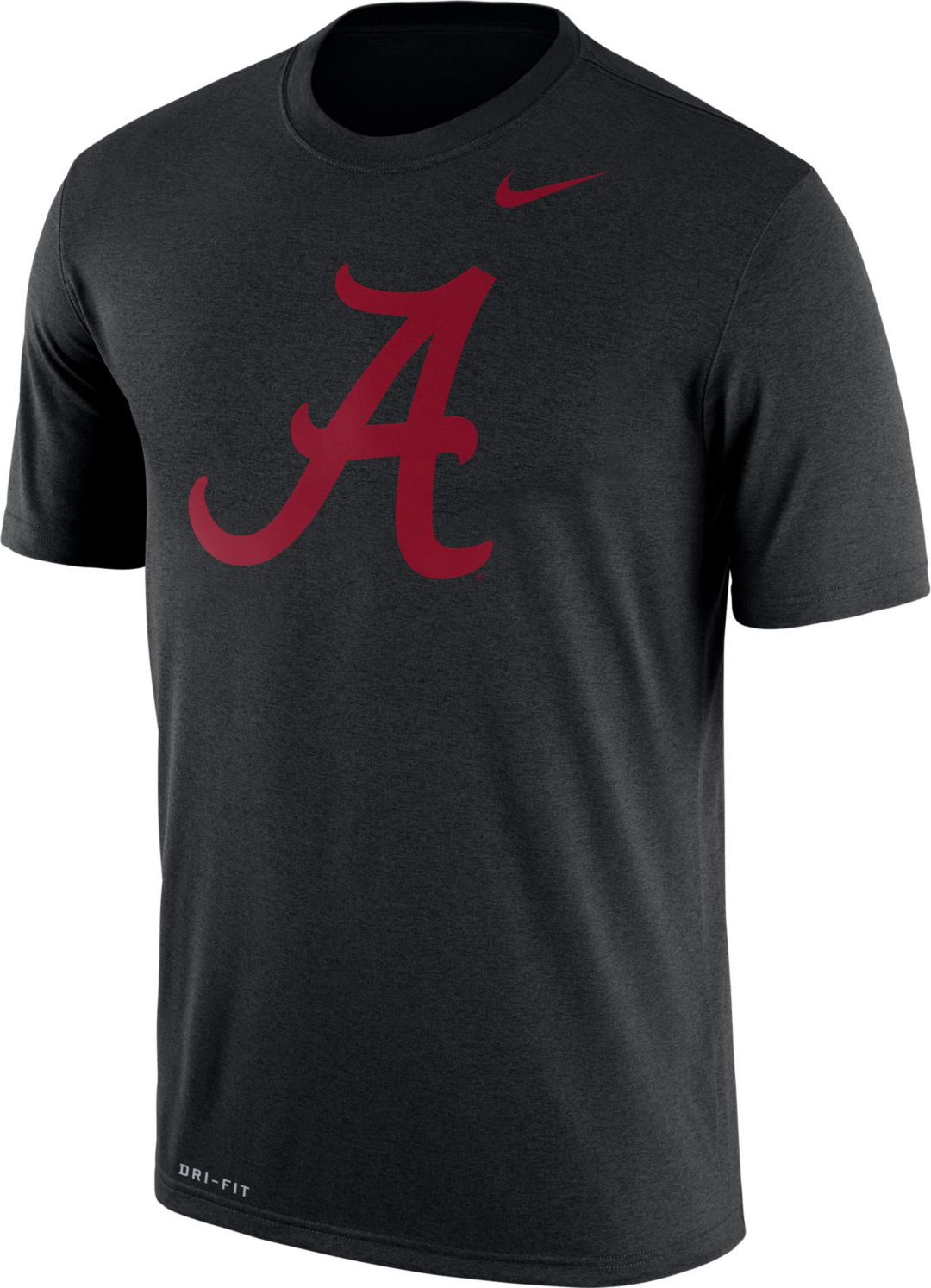 5082fc392c9e Nike Men s Alabama Crimson Tide Black Logo Dry Legend T-Shirt ...