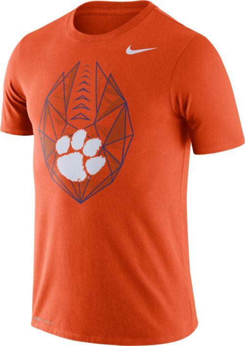 bfd58b91fe9a Nike Men s Clemson Tigers Orange Dri-FIT Football Icon T-Shirt ...