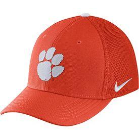 f16b1e2ed71 Nike Men s Clemson Tigers Orange Aerobill Swoosh Flex Classic99 Hat ...