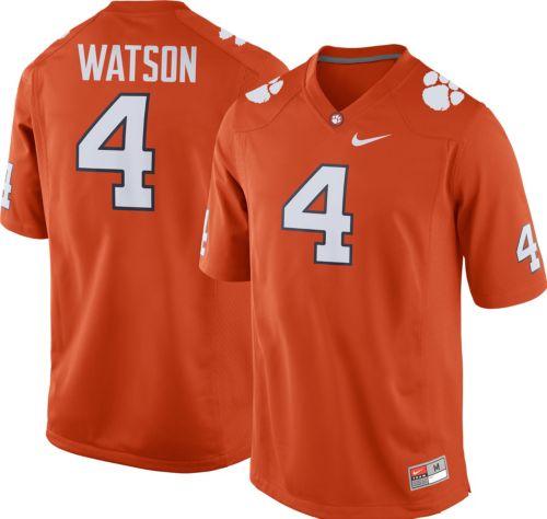 91e23a795 Nike Men s Deshaun Watson Clemson Tigers  4 Orange Replica College Alumni  Jersey. noImageFound. Previous