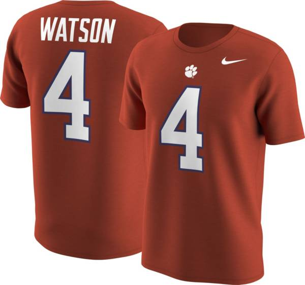 Nike Men's Clemson Tigers Deshaun Watson #4 Orange College Alumni T-Shirt product image