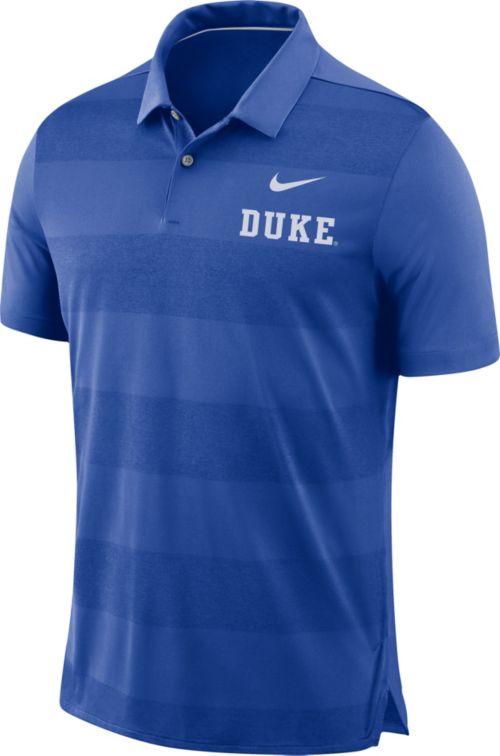 Nike Men s Duke Blue Devils Duke Blue Early Season Football Polo ... 331de5813