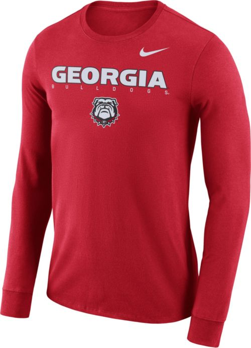 e79fb446d Nike Men s Georgia Bulldogs Red Football Dri-FIT Facility Long Sleeve  T-Shirt. noImageFound. Previous