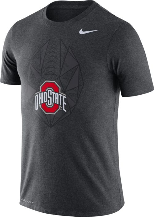 Nike Men s Ohio State Buckeyes Gray Dri-FIT Football Icon T-Shirt ... 87a435f43