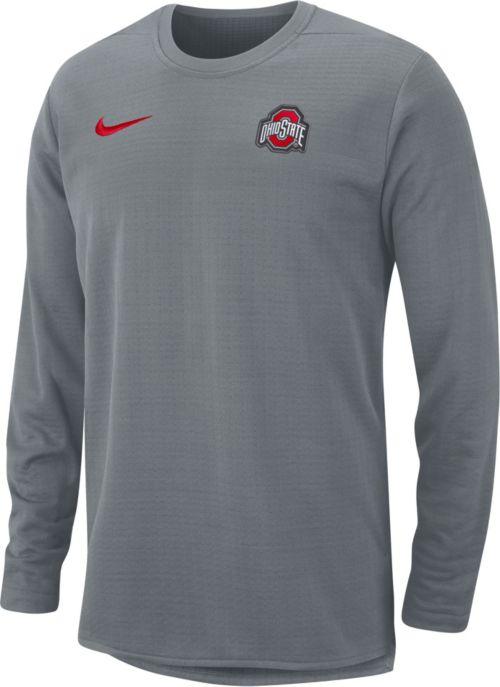 97fefed5d Nike Men's Ohio State Buckeyes Gray Modern Football Sideline Crew ...