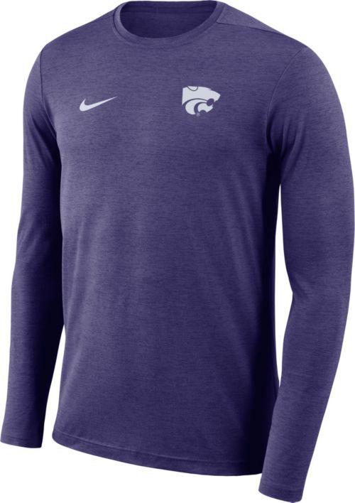 50282119bca431 Nike Men s Kansas State Wildcats Purple Football Dri-FIT Coach Long Sleeve  T-Shirt. noImageFound. Previous