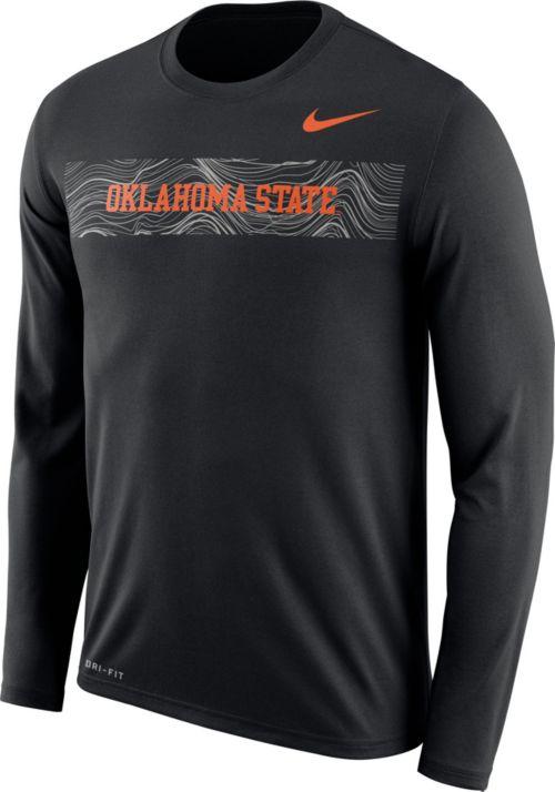 5642ab89 Nike Men's Oklahoma State Cowboys Dri-FIT Legend Long Sleeve Sideline Black  T-Shirt. noImageFound. Previous